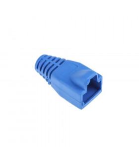 Funda conector rj45 macho azul
