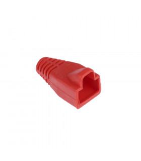 Funda conector rj45 macho roja