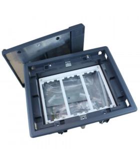Caja de suelo 3 elementos con marco blanco