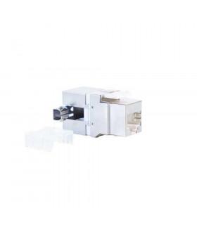 Conector hembra rj-45 2lan ftp cat-6 180º