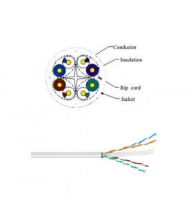Cable power utp cat-6 lszh  100  cu  305 m blanco