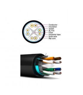 Cable bitel ftp cat-6 clase f cu ext 305 m negro