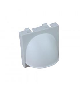 Placa ciega 45x45mm salida hilo blanco