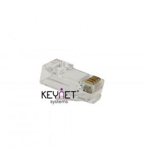 Conector macho rj45 keynet utp cat-5e