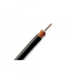 CABLE COAXIAL TV SM8001 100M NEGRO 6 7mm