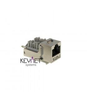 Conector hembra rj45 keynet ftp cat-6 90º