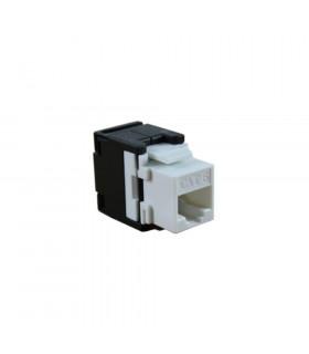 Conector hembra rj45 2lan utp cat-6 tooles 180º