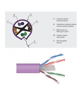 Cable televes 2123 utp cat-6 lszh 305 m violeta