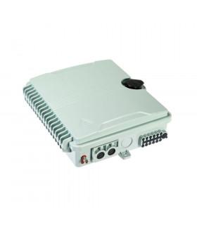 Caja distribución fibra opton 2 in 12 out casete