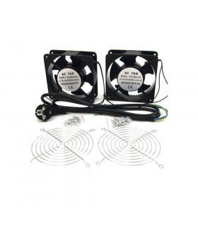 Kit ventilador doble 12 cm para rack 230v
