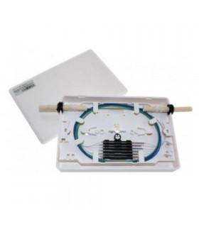 Caja empalme fibra 4p in/out 6 fusiones