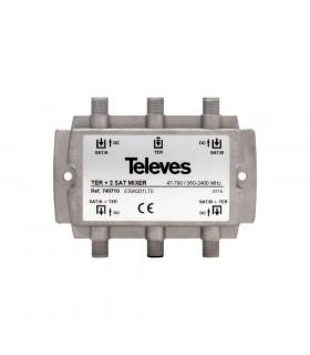 MEZCLADOR MATV 2FI TELEVES 740710 3E/2S