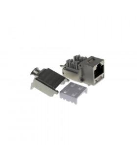 Conector hembra rj-45 keynet ftp cat-6a 90º