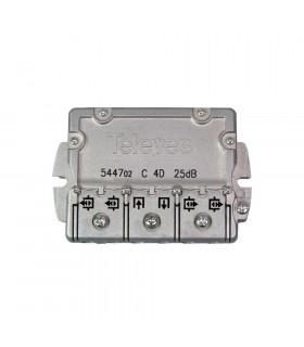 Derivador easy f 4d televes 544702 25db