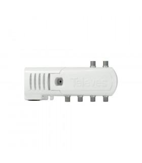 Amplificador vivienda televes 552320 1e/4s 16db
