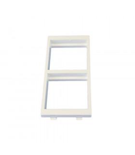 Placa doble 2 huecos de 45x45mm blanco