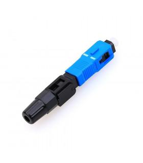 Conector mecánico fibra óptica keynet sc/upc azul