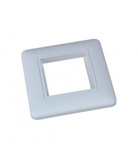 Marco caja superficie 1 elemento 45x45mm blanco