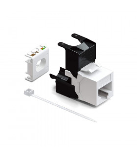 Conector hembra  rj45 cat-6a utp 180º 250 mhz tool